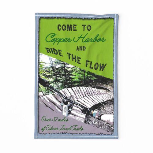 Ride the Flow  tea towel