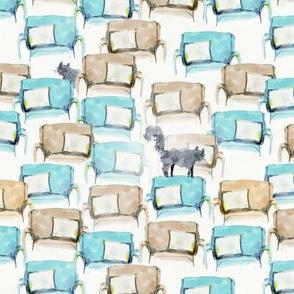 Cat in a furniture store
