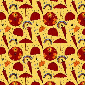 Autumn umbrellas (smaller version)
