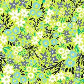 Rustic Floral (Lime Green)