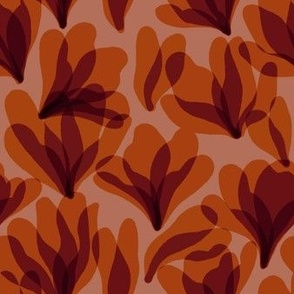 Fall floral, orange -smaller