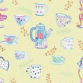 Tea Party on Yellow