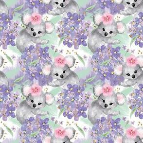 Springtime Koalas & Flowers // Small