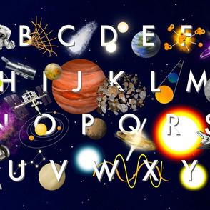ABCs of Space Teatowel