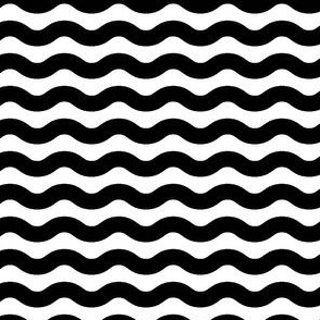 Wavy Stripe Black and White