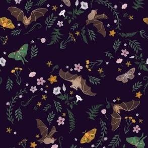 bats, moths, and night flowers
