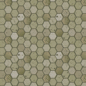Abstract pattern hexagon