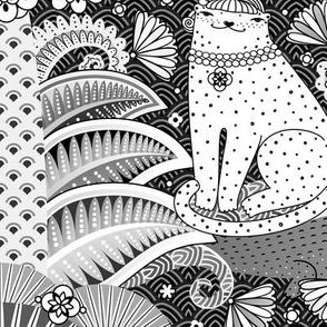 Zen Jungle (Black & White) Large