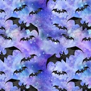 SMALL SCALE Halloween Bats Purple Nebula