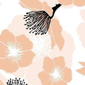 Blackberry Blossom - Peach / Black