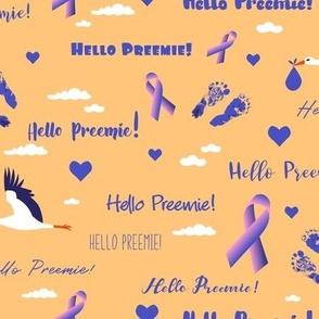 hello preemie! purple - orange