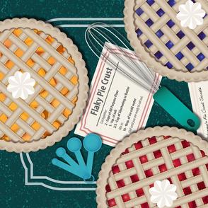 Pie Crust Recipe Tea Towel