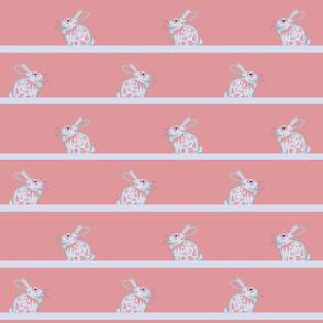 White Bunny Rabbit Stripes