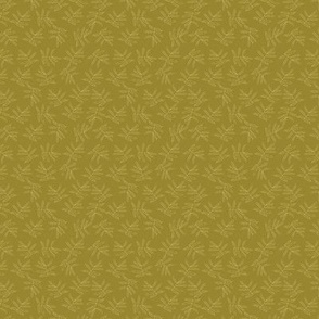 Yellow Leaves on Gold Medium Scale