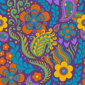 Groovy Floral Purple