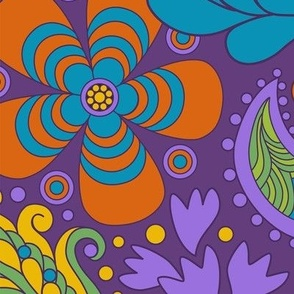 Groovy Floral Purple large scale