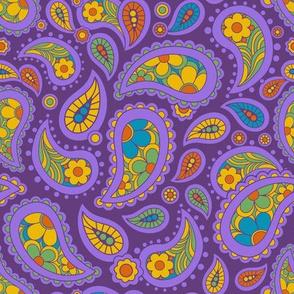 Groovy Paisley Purple