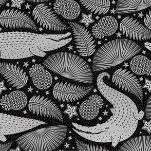 Gators camo black and white-01