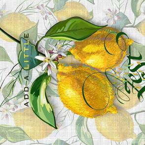 Fresh Lemon Zest Tea Towel | Faux Wt Texture