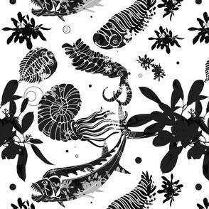 White Paleofish Fabric Large