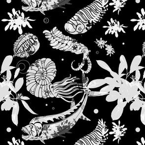 Black Paleofish Fabric Large