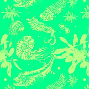 Green Paleofish Fabric Large