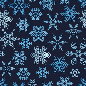 Snowflakes on a dark background