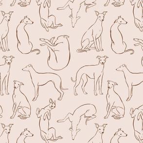 Beige Whippet Pattern