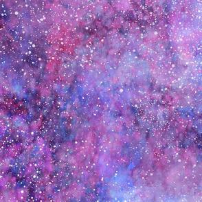 Purple blue galaxy watercolor