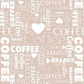 Coffee lovers barista hipster espresso typography text designs beige