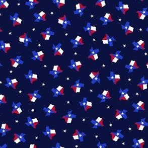 Texas Flag Midnight Blue - Small Scale