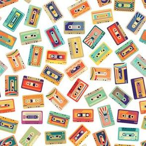 Retro Cassette Tapes - Large