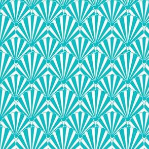 Teal seashell 1920s Art Deco // teal Shell / Seashell / Clamshell-ch