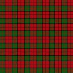 "Dunbar tartan, 1"" red/green bright"