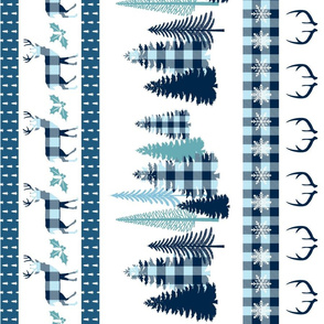 Blue and white plaid winter kid blanket