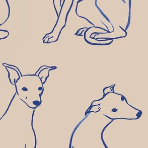 Blue Whippet Pattern