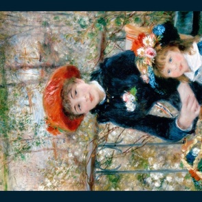 Renoir  Tea towel // Two sisters on the Terrace