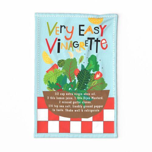 Kitchen Wisdom Easy Vinaigrette Recipe Tea Towel