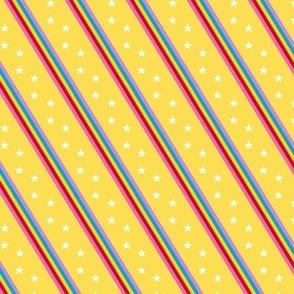Groove Line* (Diamond Dust) || rainbow stripes stars 70s 80s disco