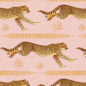 Running Cheetah-Blush Pink