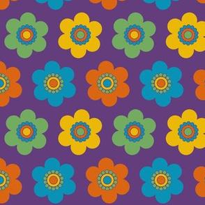 Groovy Flower Power Purple