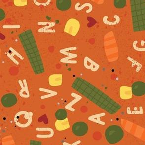 Alphabet Soup Tea Towel
