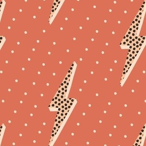 Lightning bolt soft pink