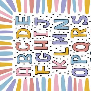 Dotty Rainbow Gender Neutral Alphabet