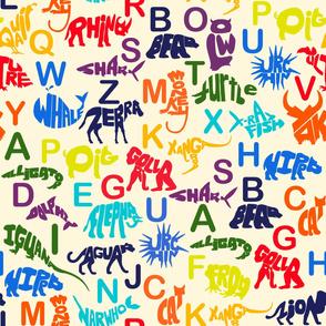 Animal Word Art Pattern