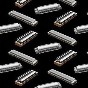 harmonica on black