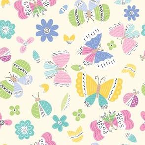 Pastel Doodle Butterflies