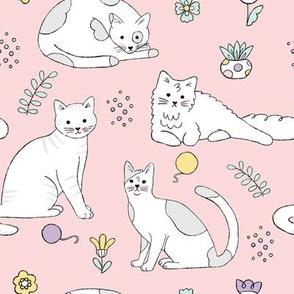Cute Line Art Kitties