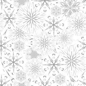 "Light Grey Stars and Flakes 54.6""tile"