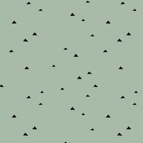 Little inky triangle confetti arrows abstract Scandinavian trend minimal basic nursery pattern sage eucalyptus green MEDIUM